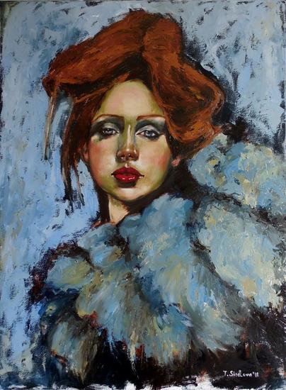Josephine Lienzo Óleo Retrato