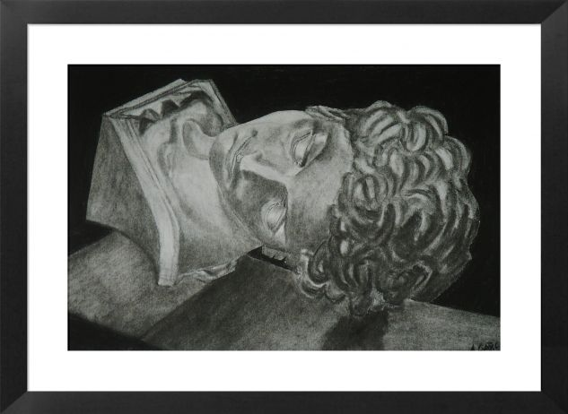 Cabeza Figure Painting Card Graphite