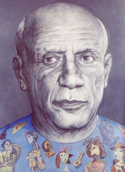 Pablo Picasso Óleo Lienzo Retrato