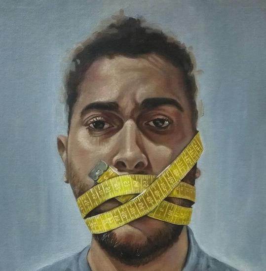 Libertad bajo palabra Portrait Oil Canvas