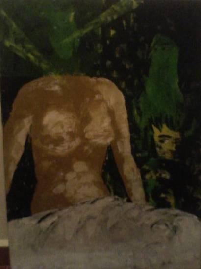 En silencio Óleo Lienzo Desnudos