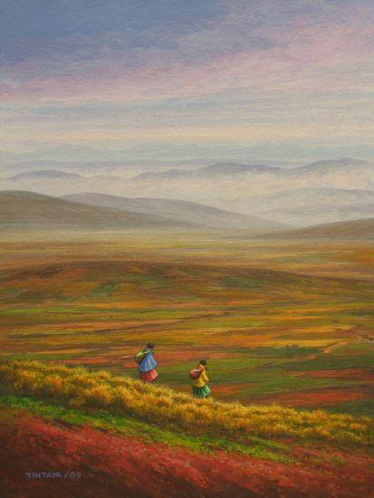 Por la Planicie Canvas Acrylic Landscaping