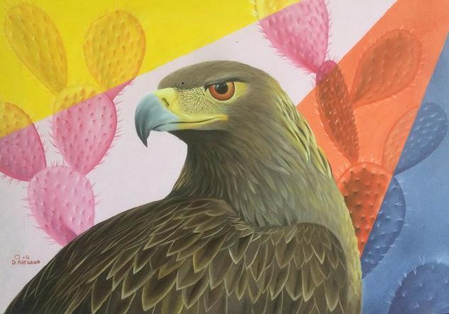 Águila Real Animales Óleo Lienzo