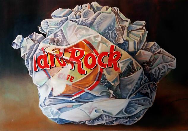 PAPEL ROCK Figure Painting Oil Canvas