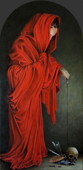 Recuerda pintor, que polvo eres y en óleo te convertirás Tabla Óleo Figura