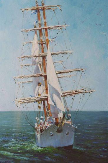 Fragata Libertad Óleo Lienzo Marina