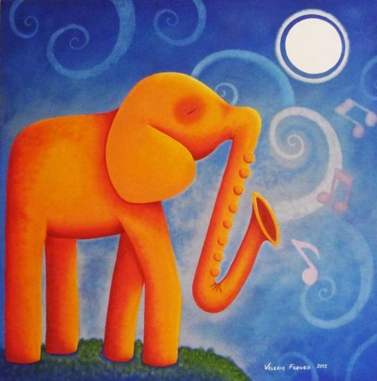 SERENATA Figure Painting Canvas Acrylic