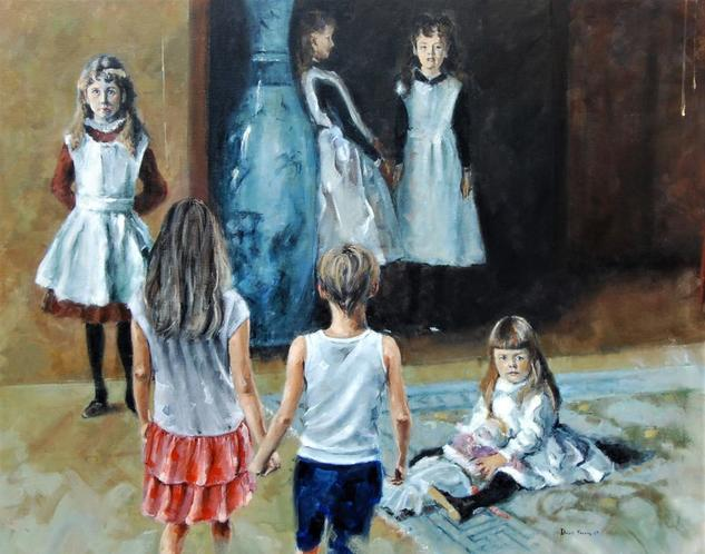 Las hijas 2019 Figura Óleo Lienzo