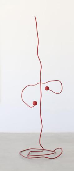 Alambre rojo en equilibrio - José Onieva Hierro Figurativa