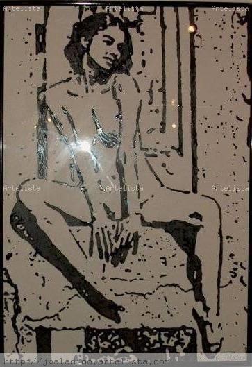 Sasha Desnudos Cartulina Tinta