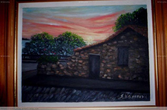 Museo del azulejo Óleo Tabla Paisaje