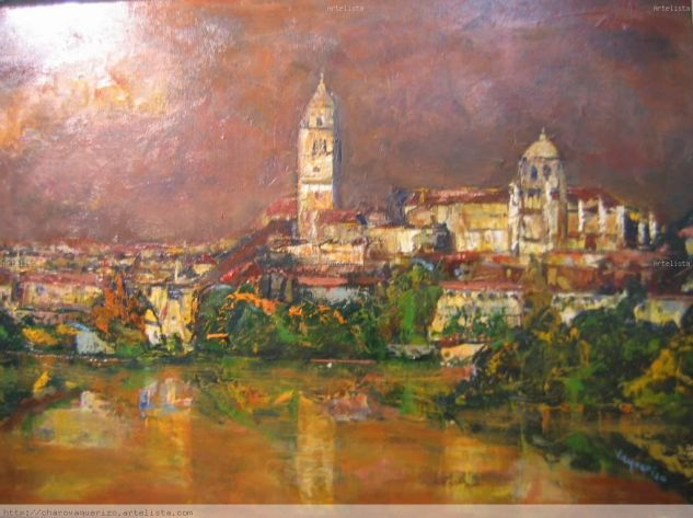 Salamanca Canvas Oil Landscaping