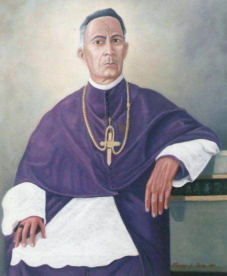 MONSEÑOR AGUEDO FELIPE ALVARADO ( PARROCO DE LA POBLACION DE BOBARE ) Óleo Lienzo Retrato