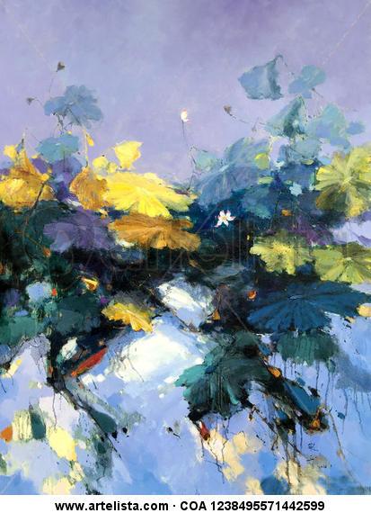 waterlily 137 Floral Óleo Lienzo