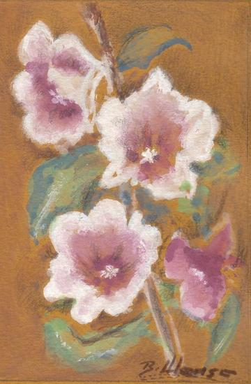 Miniatura floral Cartulina Gouache Floral