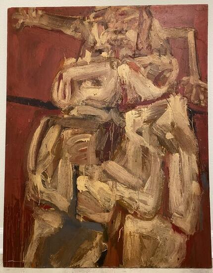 Desnudo Fraccionado (Julio Martin Caro) Figure Painting Oil Panel
