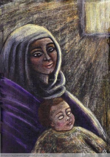 LUZ DE ESPERANZA Pastel Lienzo Retrato
