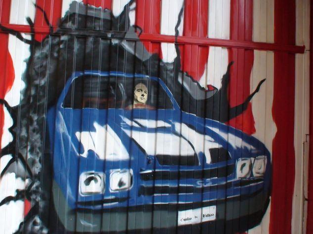 graffiti con autorretrato