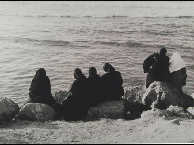 Mujeres al sol (Casablanca) Retrato Blanco y Negro (Química)