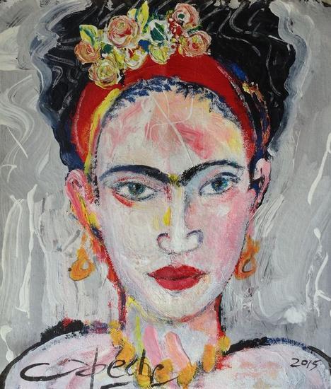 Retrato de Frida Canvas Acrylic Portrait