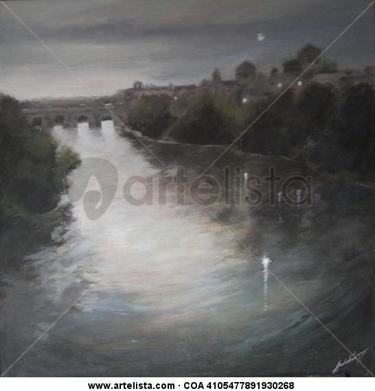 Córdoba de noche Tabla Acrílico Paisaje
