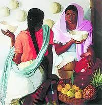 vendedoras de frutas Óleo Lienzo Paisaje