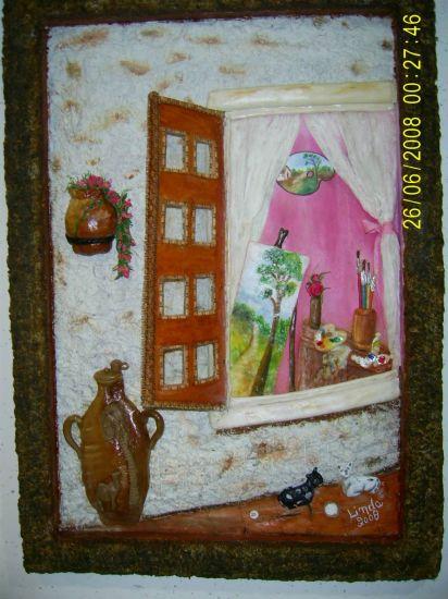 la ventana del pintor Óleo Lienzo Otros