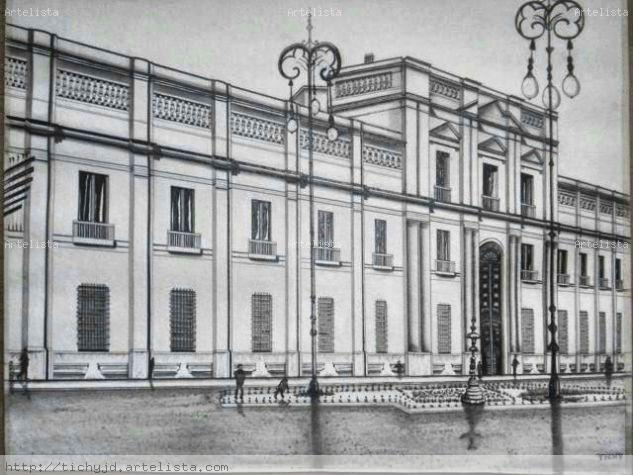 Palacio de la Moneda, Santiago, Chile Pencil