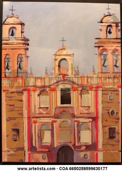 Catedral de Huelva Paisaje Tabla