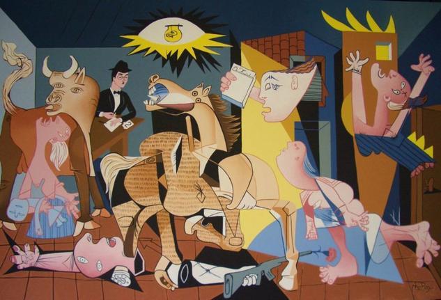 A nossa Guernica Tela Acrílico Figura