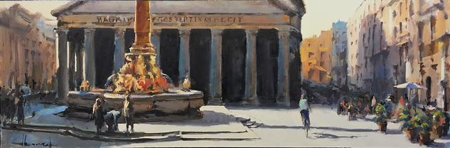 Roma Canvas Oil Landscaping