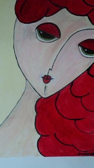 mujer de rojo 2