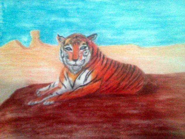 Tigre Animales Cera Papel