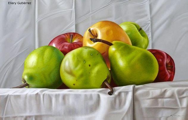 Peras y Manzanas Óleo Lienzo Bodegones