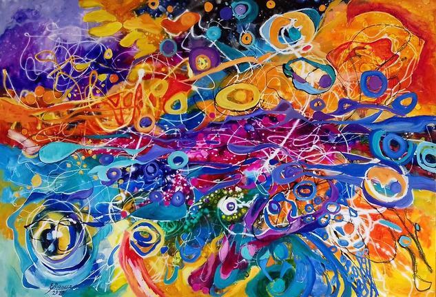 rainbow eyes Others Oil Canvas