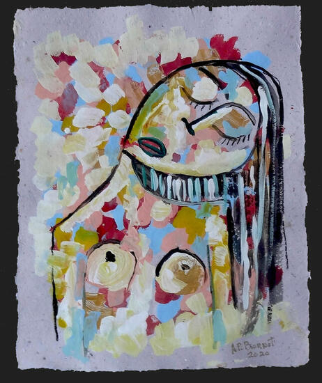Mujer Xll Figure Painting Acrylic Paper