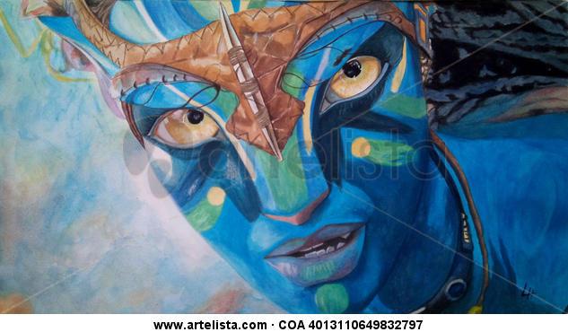 Avatar Retrato Gouache Papel