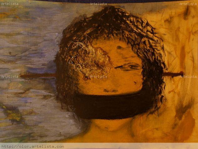 autoretrato: no escucho nada, no veo nada, no digo nada Retrato Otros Gouache