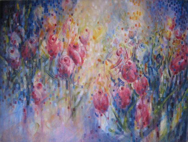 primavera Lienzo Acrílico Floral