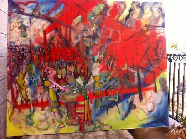 El muro de Lamentación Hoy Oil Landscaping Canvas