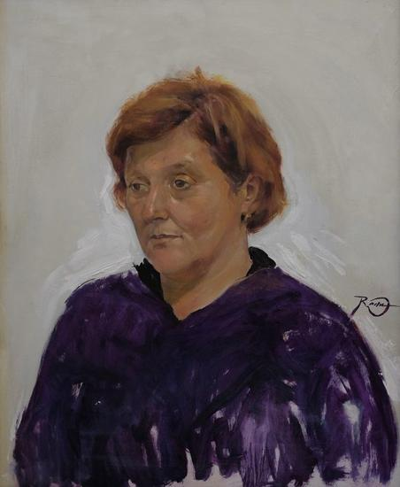 Mama Portrait Oil Canvas