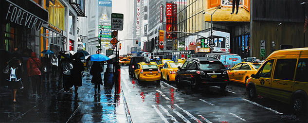 New York #6 Tabla Otros Paisaje
