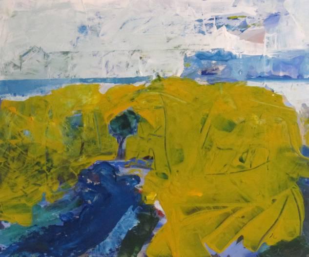 paisaje con mancha amarilla