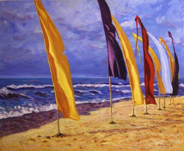 Banderas al Viento Otros Lienzo Marina