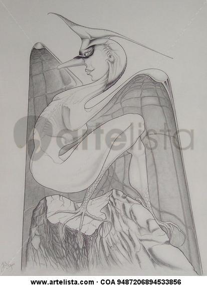 La pájara pinta Lápiz (Negro) Cartulina Figura