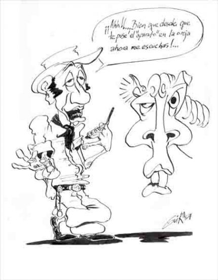El Gaucho y el celular Tinta