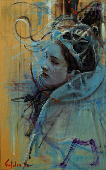 Carnaval Panel Oil Figure Painting