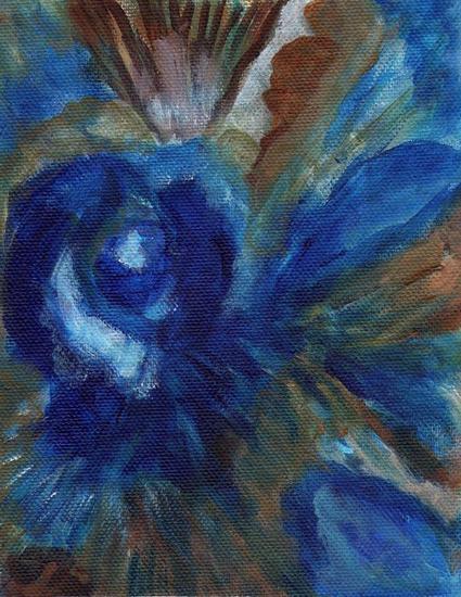 la flor del olvido Lienzo Floral Acrílico