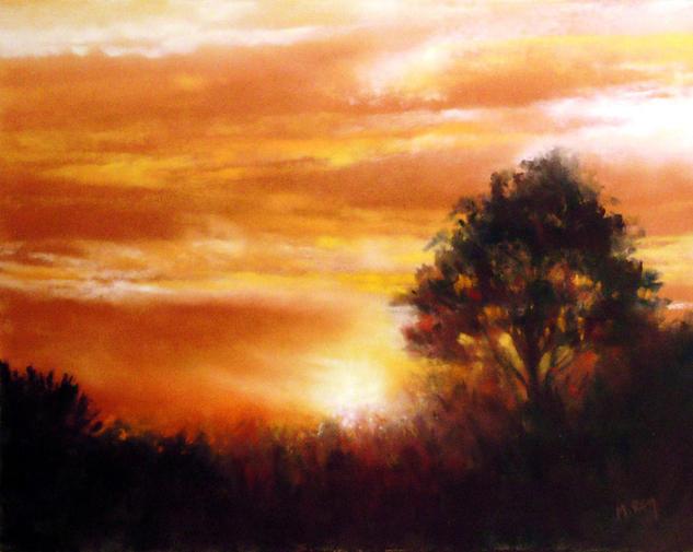 Cielo (IV) Papel Pastel Paisaje