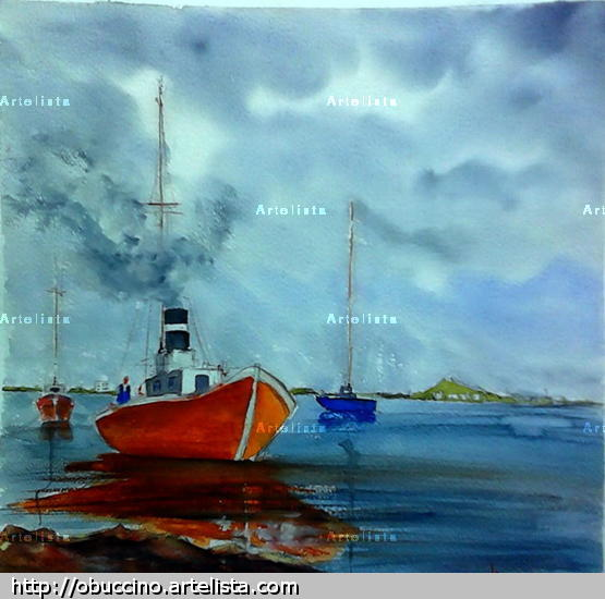 Marina - Uruguay Paper Watercolour Marine Painting